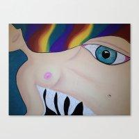 boob Canvas Prints featuring Boob by Rachel Mueller
