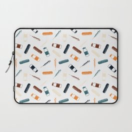 Vintage Vaccines - Large on White Laptop Sleeve