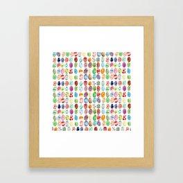 Easter eggs mosaic Framed Art Print