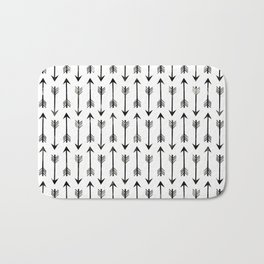 Black Arrow Bath Mat