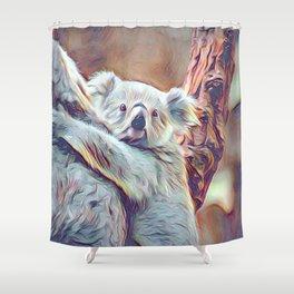 Painted Koala Baby Shower Curtain
