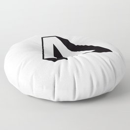 Letter A ... As Easy As... Floor Pillow