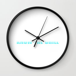 Dentists Know The Drill Wall Clock