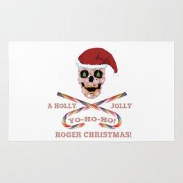 Holly Jolly Roger Xmas Rug
