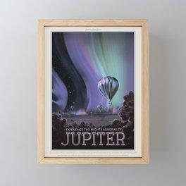 Retro Space Travel Poster NASA- Jupiter. Framed Mini Art Print