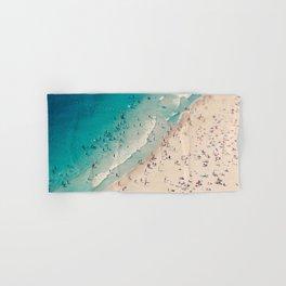Beach Love VX aerial photography by Ingrid Beddoes Hand & Bath Towel