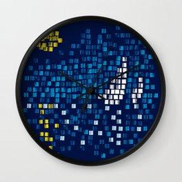 Mediterranean Blue Mosaic Wall Clock