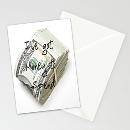 Money to Spend (Law of Attraction Affirmation) Stationery Cards