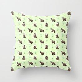 Badger Pattern Throw Pillow