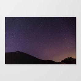 Teide by Night Skies Canvas Print
