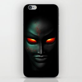Zombie Ghost Halloween Face iPhone Skin