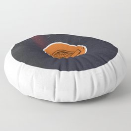 Vinyl Record Art World Post Floor Pillow