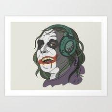 Joker illustration Art Print