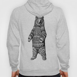 Ornate Grizzly Bear Hoody