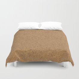 Cork Board Background Duvet Cover