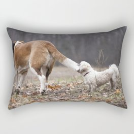 Take the World by the Tail Rectangular Pillow