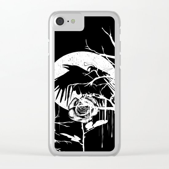 Raven and Rose Clear iPhone Case