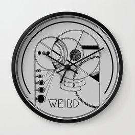 Stay Weird Wall Clock