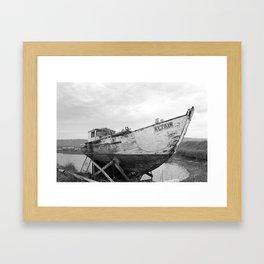 Boat Graveyard - Homer, AK Framed Art Print
