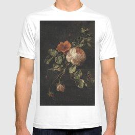 Botanical Rose And Snail T-shirt