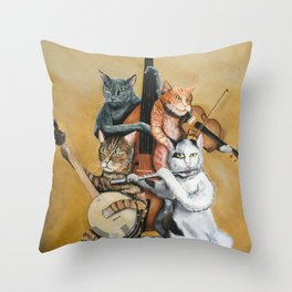 Cat Quartet Throw Pillow