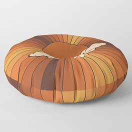 Retro Sunshine Floor Pillow