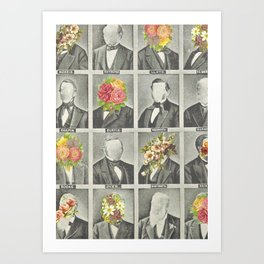 Flower Faces Art Print