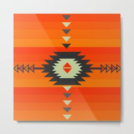 Southwestern in orange and red Metal Print
