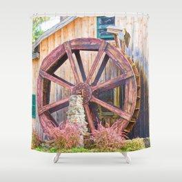 The Wheel Shower Curtain