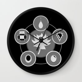 The Power Six - Minimalist Black Wall Clock