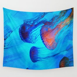 Watch the Flow of the Jelly Glow  Wall Tapestry