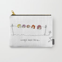 Band Pegged, The Sunday Line Up Carry-All Pouch