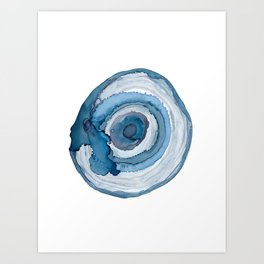Blue Agate Painting Art Print