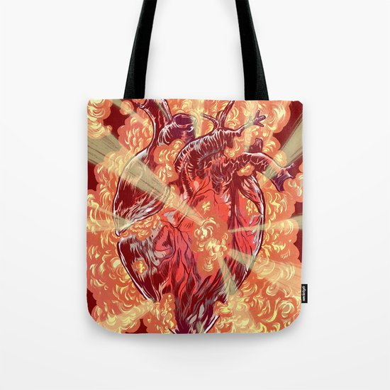 Heart Explosion Tote Bag