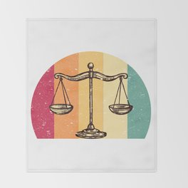 Scales Of Justice Lawyer Retro Gift Idea Throw Blanket