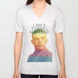 I am a Turing Machine Unisex V-Neck