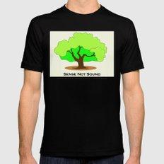 Oak Tree Flag MEDIUM Black Mens Fitted Tee