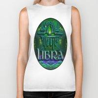 astrology Biker Tanks featuring Libra Zodiac Sign Astrology by CAP Artwork & Design