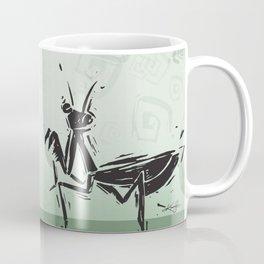 Praying Mantis by Kathy Morton Stanion Coffee Mug