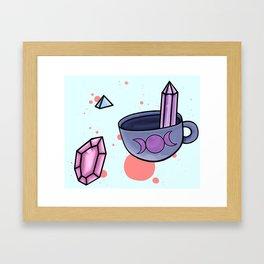 wicca tea Framed Art Print