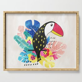 Toucan on a twig Serving Tray