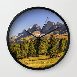 Panoramic view in the Dolomites Wall Clock