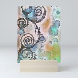 Vintage swirl Mini Art Print