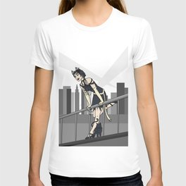 Catwoman on a Ledge  T-shirt