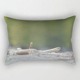 A log. Rectangular Pillow