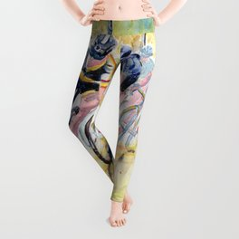 Colorful Bike Race Art Leggings