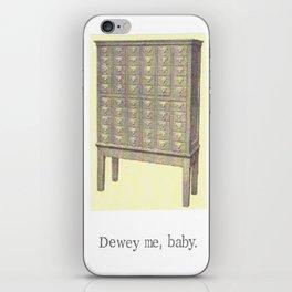 Dewey Me Baby Card Catalogue iPhone Skin