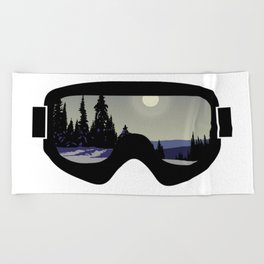 Morning Goggles Beach Towel