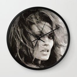 Raquel Welch Portrait Wall Clock