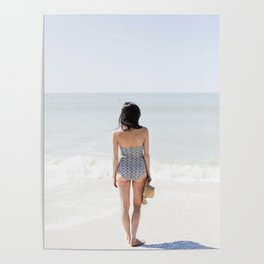 Woman On Beach Poster